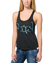 Diamond Supply Co. Girls Handwritten Charcoal Tank Top
