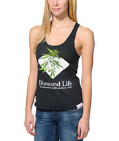Diamond Supply Co. Girls Homegrown Charcoal Tank Top