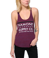 Diamond Supply Co. Girls Roots Cranberry Racerback Tank Top