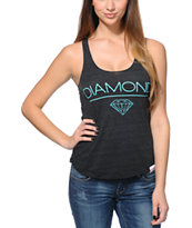 Diamond Supply Co. Girls White Space Charcoal Racerback Tank Top
