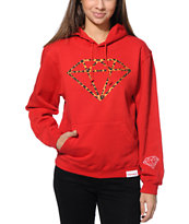 Diamond Supply Co. Leopard Rock Red Pullover Hoodie