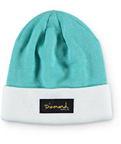 Diamond Supply Co. Mint & White Gold Foil Beanie