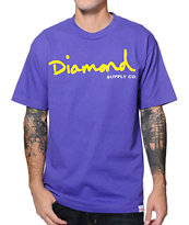Diamond Supply Co. OG Script Purple Tee Shirt
