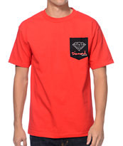 Diamond Supply Co. OG Sign Red Pocket Tee Shirt
