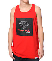 Diamond Supply Co. OG Sign Red Tank Top