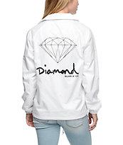 Diamond Supply Co. OG Sign White Coaches Jacket