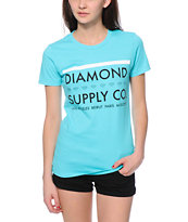 Diamond Supply Co. Roots Light Blue Tee Shirt