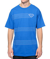 Diamond Supply Co. Striped Royal Tee Shirt
