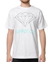 Diamond Supply Co. White & Mint T-Shirt