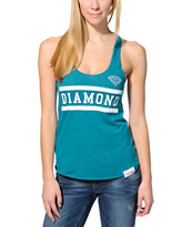 Diamond Supply Co. Women's Collegiate Teal Tank Top