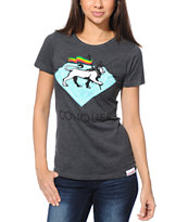 Diamond Supply Co. Women's Conquer Charcoal Tee Shirt