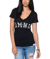 Diamond Supply Co. Zebra DMND Black V-Neck Tee