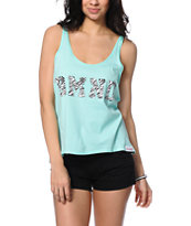 Diamond Supply Co. Zebra DMND Mint High Low Tank Top