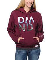 Diamond Supply Co.. LA DMND Dark Red Pullover Hoodie