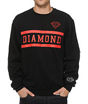Diamond Supply Collegiate Black Crew Neck Sweatshirt