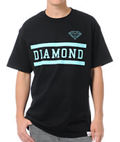 Diamond Supply Collegiate Black Tee Shirt
