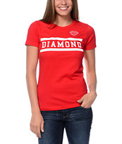 Diamond Supply Collegiate Red T-Shirt