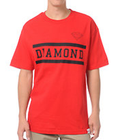 Diamond Supply Collegiate Red Tee Shirt
