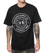 Diamond Supply Conflict Free Black Tee Shirt