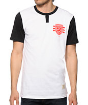 Diamond Supply International Skateboarding Henley Tee Shirt