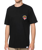 Diamond Supply x Grizzly Grip Tape Black Pocket Tee Shirt