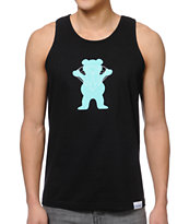 Diamond Supply x Grizzly Grip Tape Brilliant Bear Black Tank Top