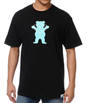 Diamond Supply x Grizzly Grip Tape Brilliant Bear Black Tee Shirt