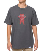 Diamond Supply x Grizzly Grip Tape Brilliant Bear Charcoal Tee Shirt