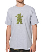 Diamond Supply x Grizzly Grip Tape Buds Grey Tee Shirt