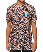 Diamond Supply x Grizzly Grip Tape Eli Reed Cheetah T-Shirt