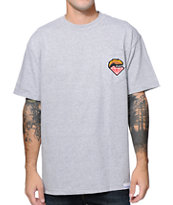 Diamond Supply x Grizzly Grip Tape Grey Pocket T-Shirt