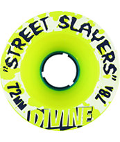 Divine Street Slayers 72mm 78a Green Skateboard Wheels