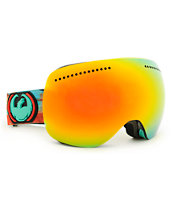 Dragon APX Watercolor & Red Ionized 2014 Snowboard Goggle