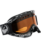 Dragon DX 2013 Grey Icon & Amber Snowboard Goggles