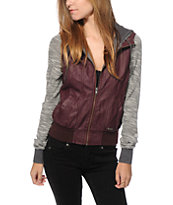 Dravus Adria Fig Faux Leather Jacket