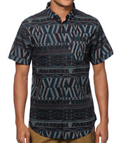 Dravus Backtrack Tribal Button Up Shirt