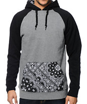 Dravus Bandito Charcoal Paisley Pullover Hoodie