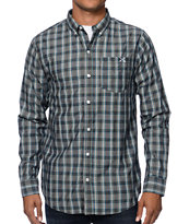 Dravus Bank Black Plaid Long Sleeve Button Up Shirt
