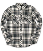 Dravus Boys Dominion Black & White Long Sleeve Flannel Shirt