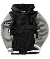 Dravus Boys Emblem Black & Grey Varsity Hoodie