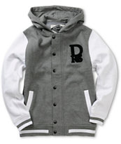 Dravus Boys Emblem Charcoal & White Varsity Jacket
