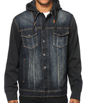 Dravus Braydon Hooded Denim Jacket