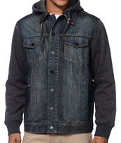 Dravus Burbank Denim & Fleece Hooded Jacket
