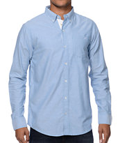 Dravus Carlton Blue Oxford Long Sleeve Button Up Shirt