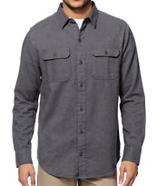 Dravus Dagger Charcoal Long Sleeve Button Up Shirt
