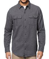 Dravus Dagger Charcoal Long Sleeve Button Up Shirt