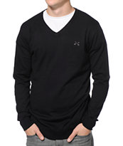 Dravus Detroit Black V-Neck Sweater