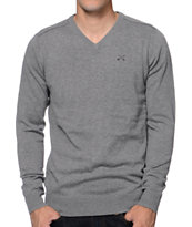 Dravus Detroit Grey V-Neck Sweater