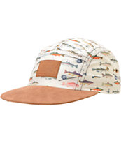 Dravus Gone Fishing Printed 5 Panel Hat