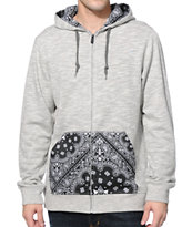 Dravus Harris Grey Zip Up Hoodie